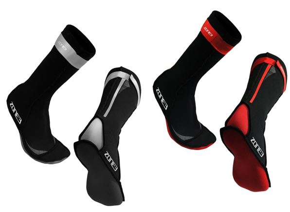 Neoprene swim socks black red – Zone 3