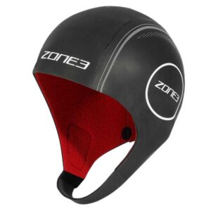 Neoprene Swim Cap – Black Red – Zone 3